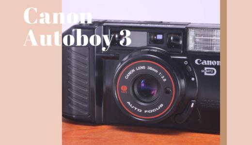 Canon Autoboy 3 の使い方